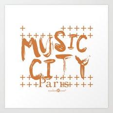 Music City Paris Art Print