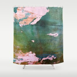 Bottoms Up Abstract Shower Curtain