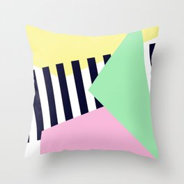 Pastels & Crossings Throw Pillow