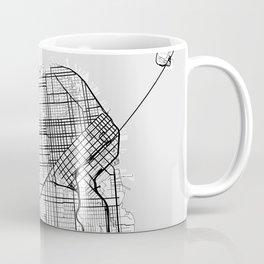 Scandinavian map of San Francisco Penninsula Coffee Mug