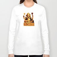 ganesha Long Sleeve T-shirts featuring Ganesha by Ninamelusina