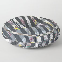 Polarized - circle graphic Floor Pillow