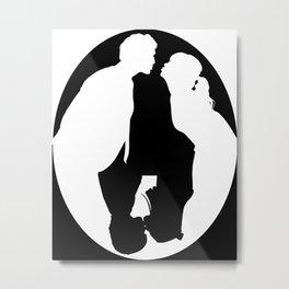 Pushing Daisies silhouette kiss Metal Print