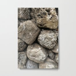 Lava Rock Wall Metal Print