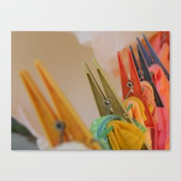 colorful tongs Canvas Print