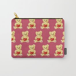 Cute Teddy Bears Pink Pattern Carry-All Pouch