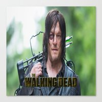 walking dead Canvas Prints featuring Walking Dead by ezmaya