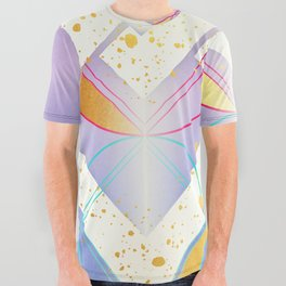 Linked Lilac Diamonds :: Floating Geometry All Over Graphic Tee
