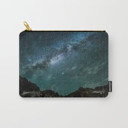 Milky Way over mountain range Carry-All Pouch