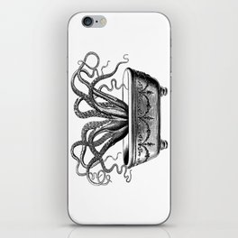 Tentacles in the Tub | Octopus | Black and White iPhone Skin