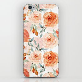 Living Coral Autumnal Roses iPhone Skin