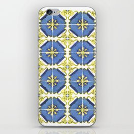 Blue and Yellow Tiles iPhone Skin
