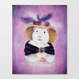 Beatrice Buttercream the Victorian Guinea Pig Canvas Print