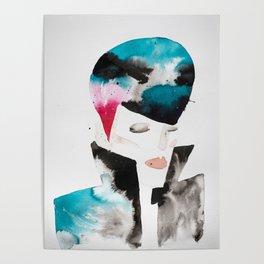 Color-bleed Portrait of a Rocker Poster