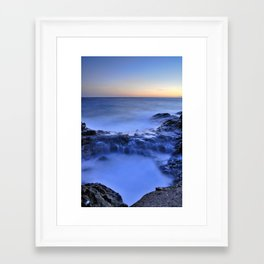 Blue seaside Framed Art Print