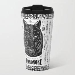Mononoke Hime Wolf Pride Letterpress Line Work Travel Mug