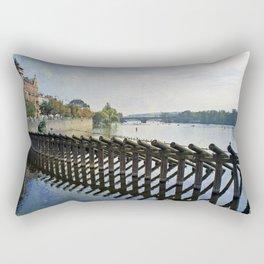 Vltava River Rectangular Pillow
