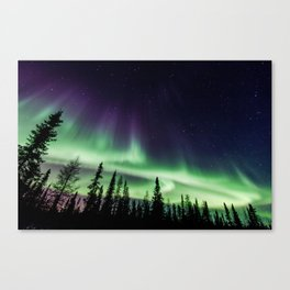 Aurora during geomagnetic storm in Yellowknife, Canada Canvas Print