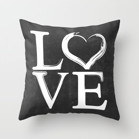 lOVE Throw Pillow by Cafelab Society6