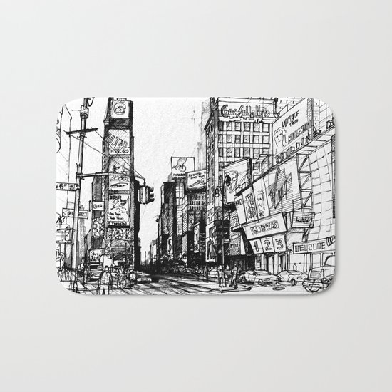 NYC Times Square Bath Mat