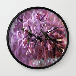 Soft Lilac Glow Wall Clock