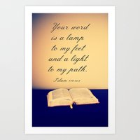 bible Art Prints featuring Bible  by Jo Bekah Photography