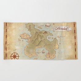 Map of Neverland Beach Towel