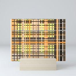 Sunny tartan plaid pattern Mini Art Print