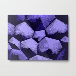 Purple and black geometric blocks pattern Metal Print
