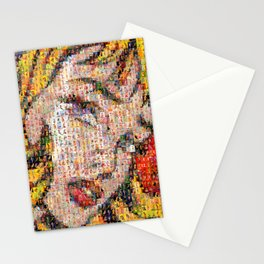 Roy's PinUps (h) - pop art Stationery Cards