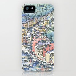 Portofino dal mare iPhone Case