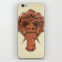 majoras mask iPhone & iPod Skins featuring Mask by Guilherme Rosa // Velvia