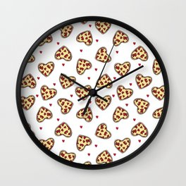 Pizza hearts cute love gifts foodie valentines day slices Wall Clock