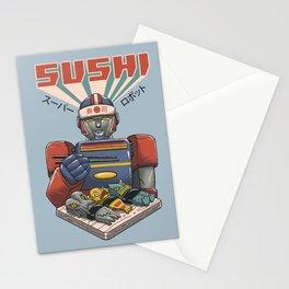Super Sushi Robot Stationery Cards