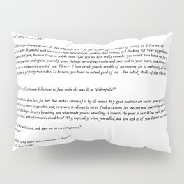 Pride and Prejudice Jane Austen white background Pillow Sham