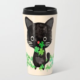 The Luckiest Cat Travel Mug