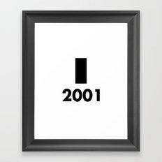 2001: A Minimalist Space Odyssey Framed Art Print