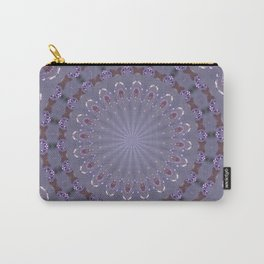 PURPLE BUTTERFLIES AND BEADS 2 Carry-All Pouch