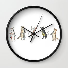 Reed Meowtet Wall Clock