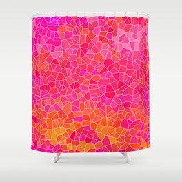 Mosaic Pink Shower Curtain