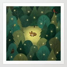 Enchanted Forest Baby Art Print