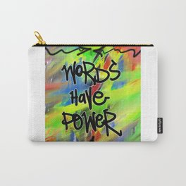 Words Have Power Carry-All Pouch