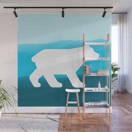 Inverted Blue Bear - Wildlife Series Wall Mural