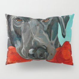 Ozzie the Black Labrador Retriever Pillow Sham
