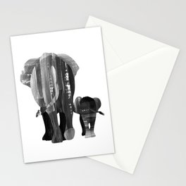 A walk together (black and white) Stationery Cards