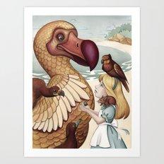 Alice's Caucus-race Prize Art Print