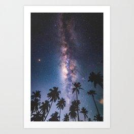 Tropical Galaxy Art Print