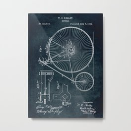 1885 Bicycle patent Metal Print