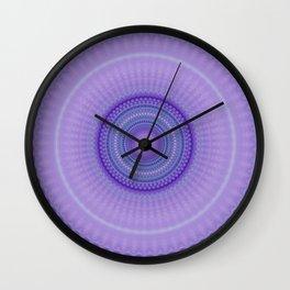 Pantone Purple Aqua Mandala Wall Clock