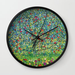 """Gustav Klimt """"Apple tree"""" Wall Clock"""